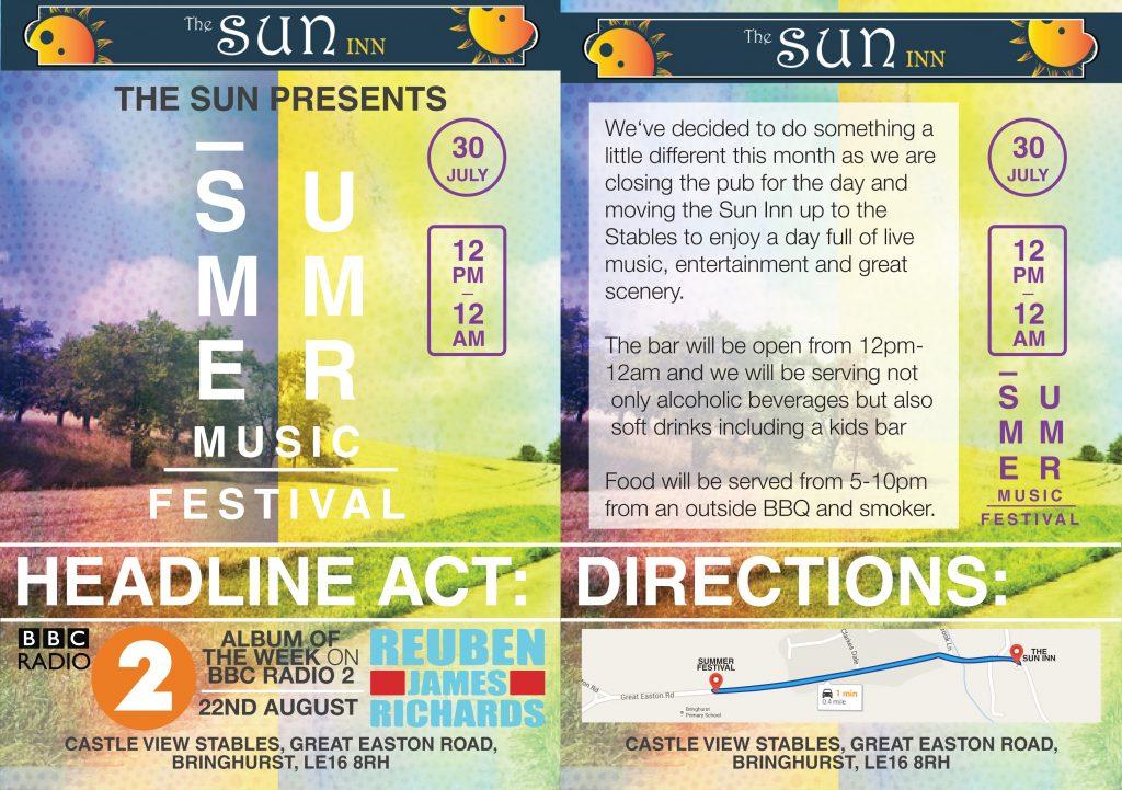 Festival Flyer Design draft