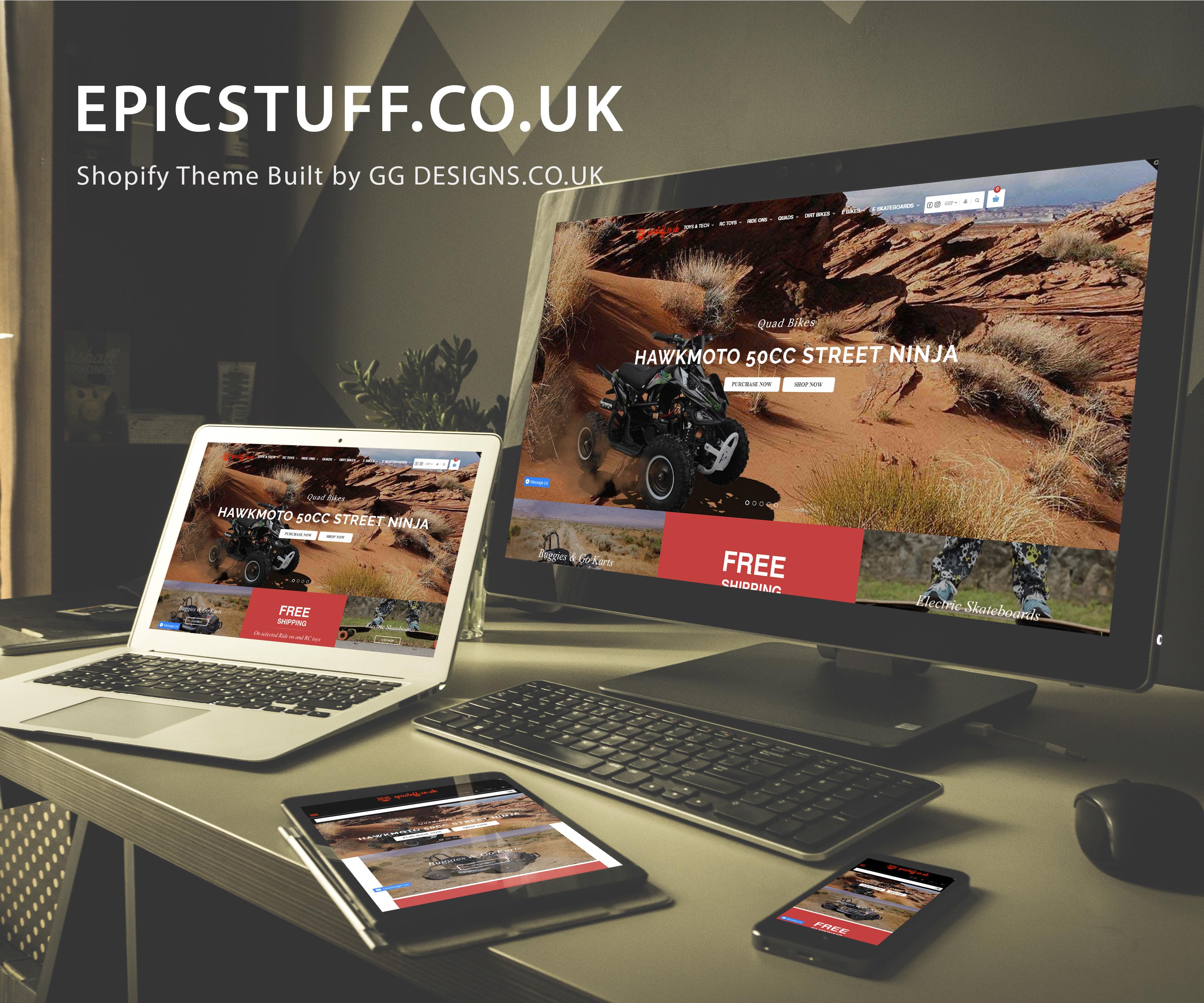EpicStuff.co.uk Shopify Website Design